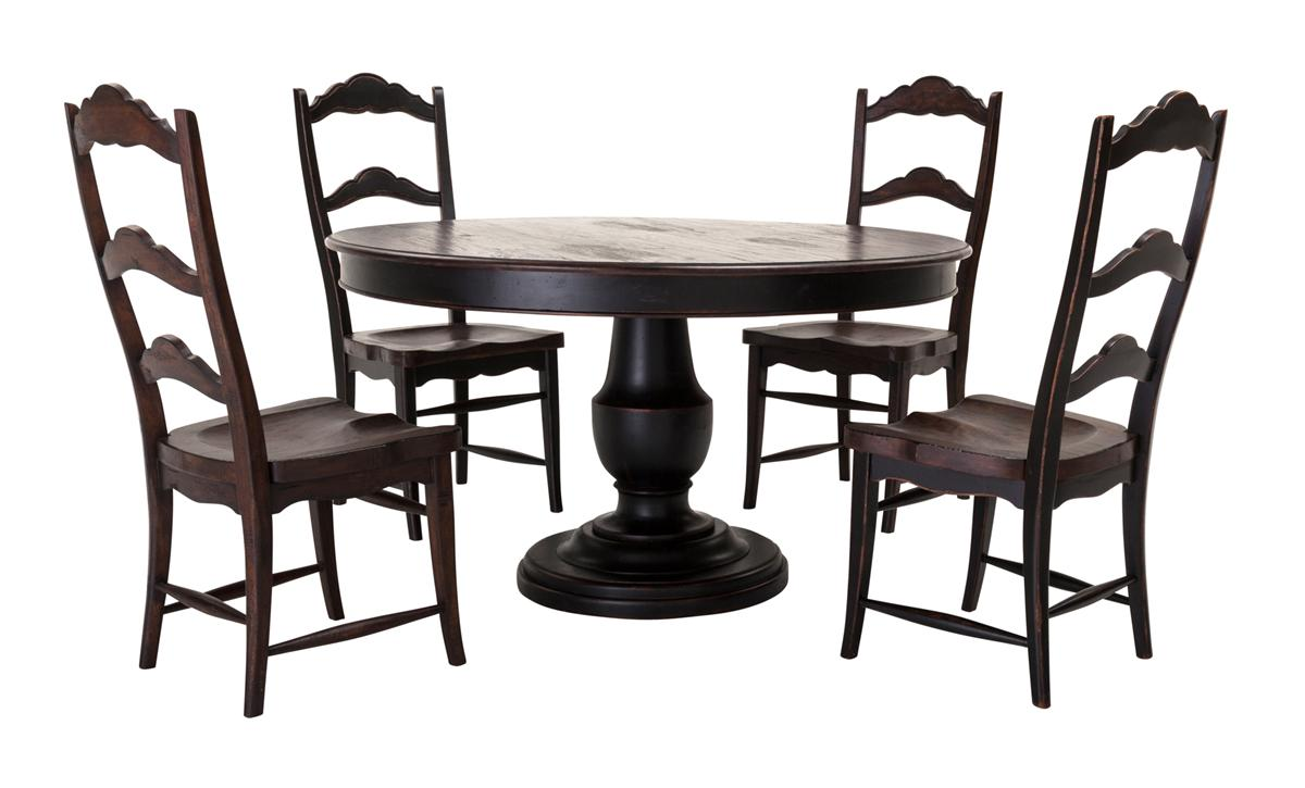 Scottsdale Dining Table 54 Dark Rustic Pecan Black Weirs