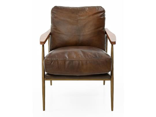 Christopher Club Chair, Brown