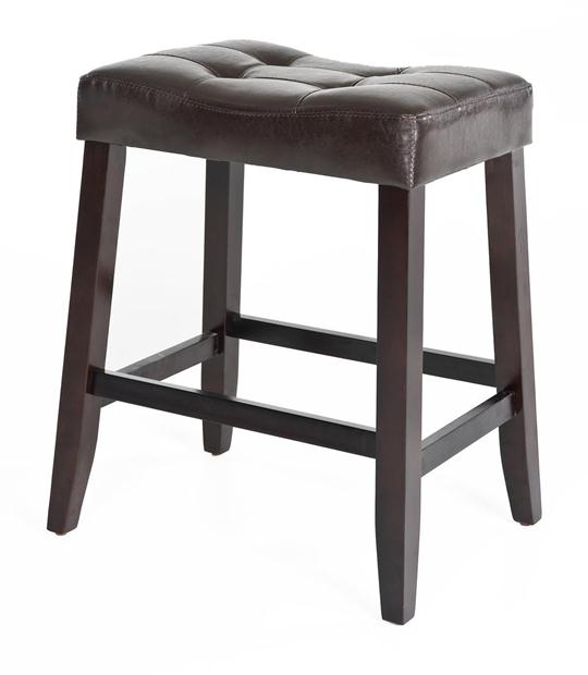 Kinsey Faux Leather Stool, 24