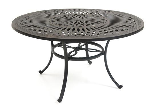 Round Patio Counter Table With Lazy Susan Weirs Furniture - 54 round patio table