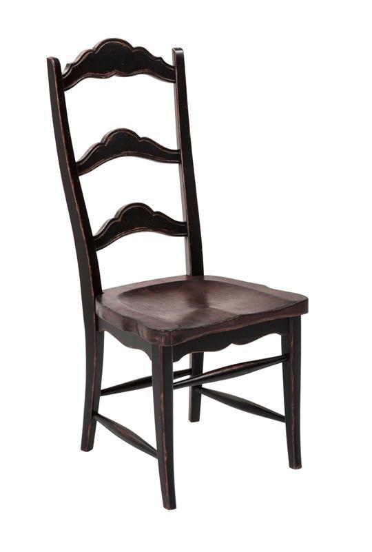 Colonial Side Chair Dark Rustic Pecan Weir S Furniture