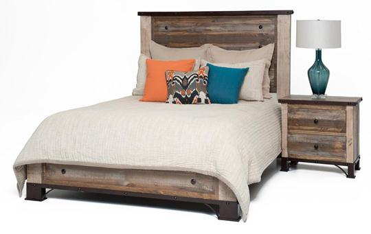 rustic artisan two drawer nightstand weir 39 s furniture