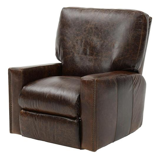 antique brown leather recliner - Brown Leather Club Chair