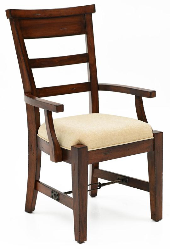 Tuscany Farmhouse Arm Chair Upholstered Seat