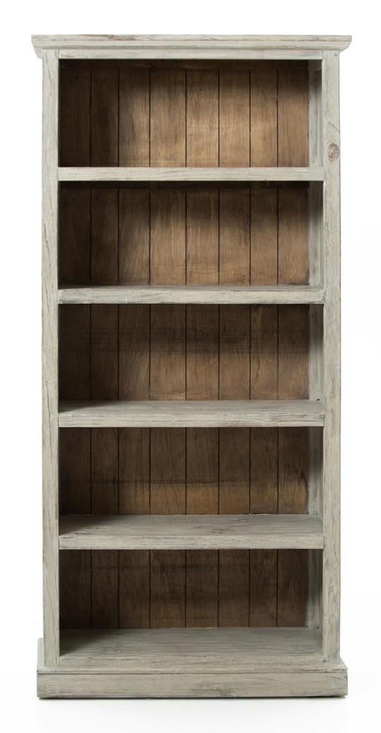 Small Scale Bookcase Washed Natural