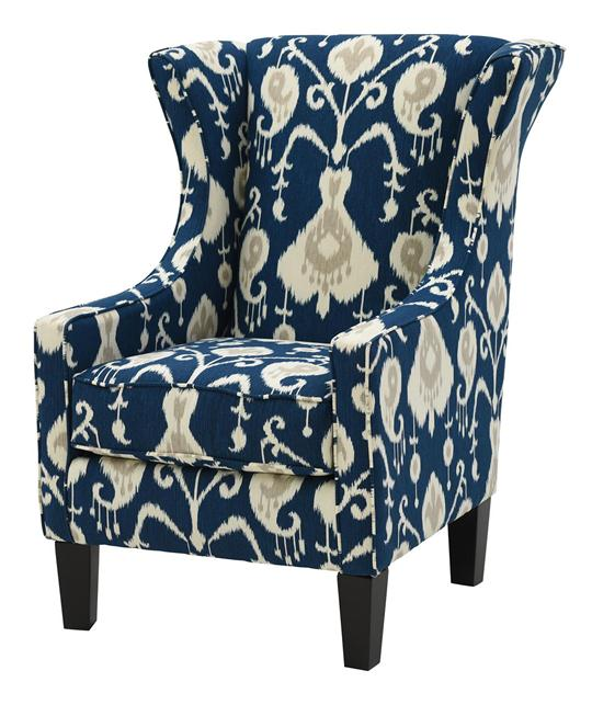 java navy wing chair