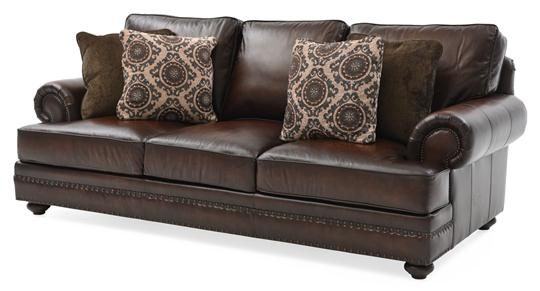 bernhardt bradford sofa top grain leather